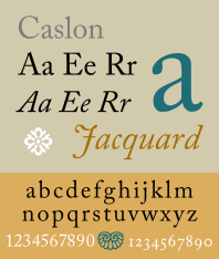 Adobe Caslon Pro typeface
